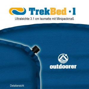 Isomatte selbstaufblasbar Trek Bed 1 detailansicht 300x300 Trek Bed 1   Isomatte aufblasbar