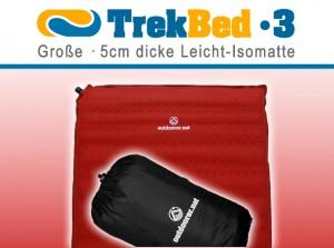 Trek Bed 3 610x455 300x223 Trek Bed 3   bequeme, leichte selbstaufblasbare Isomatte zum Falten