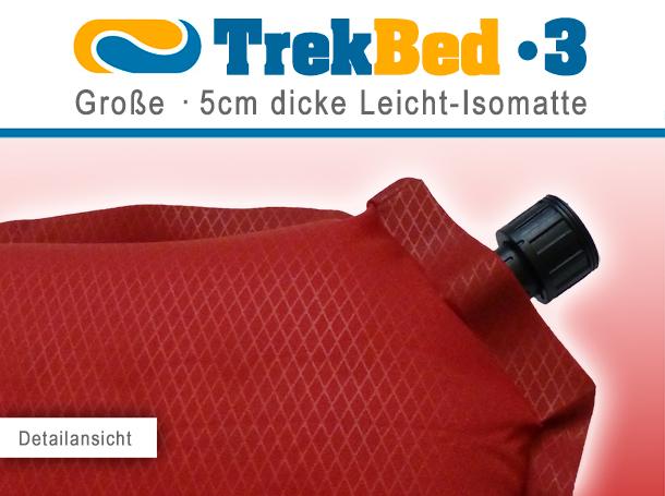 trek bed 3 bequeme leichte selbstaufblasbare isomatte. Black Bedroom Furniture Sets. Home Design Ideas