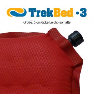 trek bed 3 detailansicht 300x300 Trek Bed 3   bequeme, leichte selbstaufblasbare Isomatte zum Falten