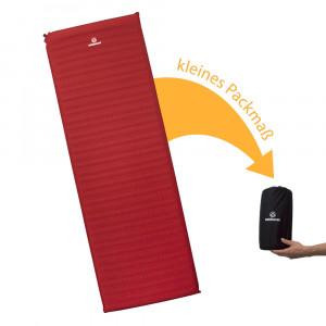 trek bed 3 packsack 300x300 Trek Bed 3   bequeme, leichte selbstaufblasbare Isomatte zum Falten