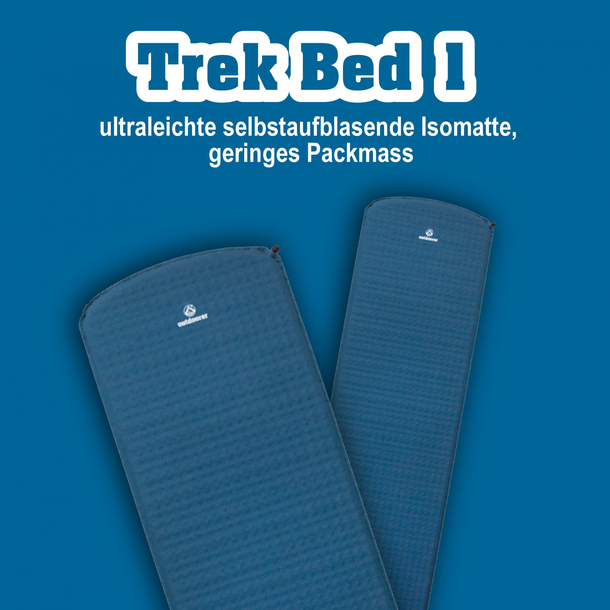 Trek Bed 1 outdoorer Isomatte selbstaufblasend