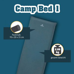 Camp Bed 1 selbstaufblasende Campingmatte